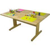 """Allied Plastics Art and Projects Table -  42"""" x 72"""" Hardwood Top"""