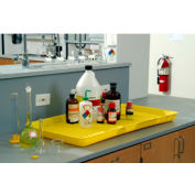 """Eagle 1677 Spill Containment Utility Tray Yellow 36""""L x 18""""W x 2""""H"""