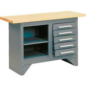 5 Drawer Work Station with Wood Top