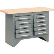 10 Drawer Work Station with Wood Top