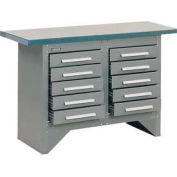 10 Drawer Work Station with Steel Top