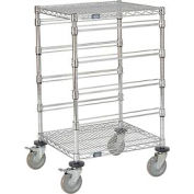 "21""L x 24""W x 45""H H Chrome Wire Cart - 4 Level"