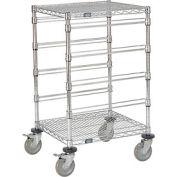 "21""L x 24""W x 45""H H Chrome Wire Cart - 4 Level"