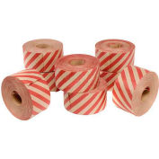 Holland Hi Tech Reinforced Water Activated Tape 72mm x 375' 5 Mil Stripe Red - Pkg Qty 8