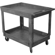 Wesco® Standard Plastic Tray Shelf Service Cart 270483 36x24 500 Lb. Cap.