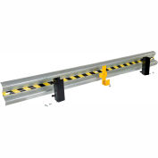 Galvanized Drop-In Guard Rail 10 Ft. with (3) Brackets and Hardware