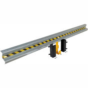 Galvanized Drop-In Guard Rail 12 Ft. with (3) Brackets and Hardware