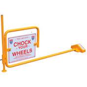 """Railroad Flag Rail Car Chock with """"Chock Your Wheels"""" Sign FRC-2"""