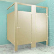"Plastic Laminate Complete 2 In-Corner Compartment 36"" W Almond"