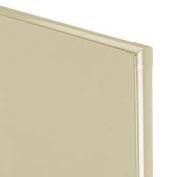 "Plastic Laminate Partition Panel 57-3/4"" W x 58"" H Almond"