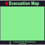 Evacuation Map Holder, Photoluminescent Lettering