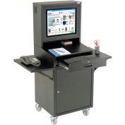 Mobile Security LCD Computer Cabinet Enclosure Complete Bundle, Black, Unassembled