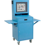 Mobile Security LCD Computer Cabinet Enclosure Complete Bundle - Blue