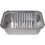 DPI® Aluminum Closeable Containers, 1.5 Lb. Capacity, Oblong, 500/Carton