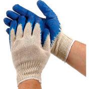PIP Economy Blue Latex Coated Cotton Gloves, Large, 12 Pairs