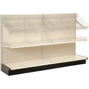 "Lozier - Gondola Shelving, 36""W x 25""D x 84""H Single Side - Wall Add-On"