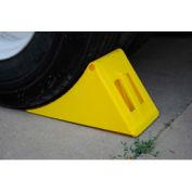 "Vestil Molded Plastic Wheel Chock PLWC-Y 18-1/2""L x 8""W x 9""H"