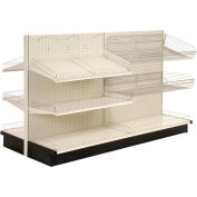 "Lozier - Gondola Shelving, 36""W x 35""D x 84""H Double Side - Aisle Add-On"