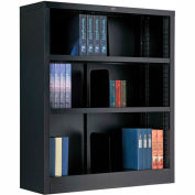 "All Steel Bookcase 36"" W x 12"" D x 42"" H Black 3 Openings"
