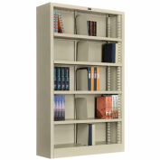 """All Steel Bookcase 36"""" W x 12"""" D x 60"""" H Putty 5 Openings"""