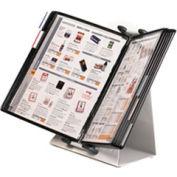 Tarifold® Antimicrobial Desktop Organizer Starter Set, 10 Black Pockets