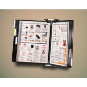 Tarifold® Antimicrobial Wall Unit Starter Set, 10 Pockets, Black