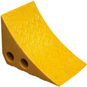 "Vestil Yellow Recycled Plastic Wheel Chock PWC-Y 10-1/2""L x 7-1/2""W x 7-1/2""H"