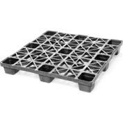 Nestable Plastic Pallet 43x43, 1700-3300 Lbs Cap. - Pkg Qty 10