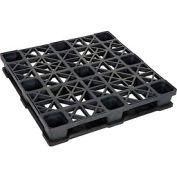 Rackable Plastic Pallet 43x43, 2600-5300 Lbs Cap. - Pkg Qty 4