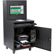 Deluxe LCD Industrial Computer Cabinet - Black - Unassembled
