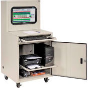 Global Industrial™ Deluxe LCD Industrial Computer Cabinet, Gray, Unassembled
