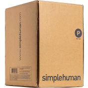 simplehuman® Trash Can Liner Code P - 16 Gallon,  23.6 X 31.5, 1.18 Mil, White, Pack of 200