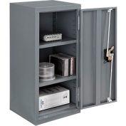"Global™ Wall Storage Cabinet Assembled 13-3/4""W x 12-3/4""D x 30""H Gray"
