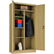"Global™ Combination Cabinet Easy Assembly 36""W x 18""D x 72""H Tan"