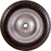 "Marathon 00011 4.10/3.50-4 Hand Truck Tire Sawtooth Tread Flat Free, 2.25"" Offset, 3/4"" Bearings"