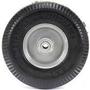 "Marathon 33102 8x2 Flat Free Sawtooth Tread, 2.375"" Centered Hub, 1/2"" Bearings"