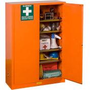 "Justrite Emergency Preparedness Cabinet with Port 65"" x 43"" x 18"" Emergency Orange"