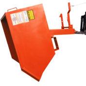 Modern Equipment MECO SDHX025-90 Series 90 1/4 Cu. Yd Orange Extra Heavy Duty Self-Dumping Hopper
