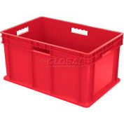 """Akro-Mils Straight Wall Container 37682 Solid Sides & Base 23-3/4""""L x 15-3/4""""W x 12-1/4""""H, Red - Pkg Qty 3"""