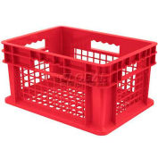 """Akro-Mils Straight Wall Container 37208 Mesh Sides & Base 15-3/4""""L x 11-3/4""""W x 8-1/4""""H, Red - Pkg Qty 12"""