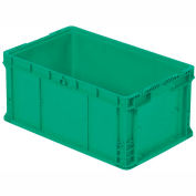 "ORBIS Stakpak NXO2415-11.5 Modular Straight Wall Container, 24""L x 15""W x 11-1/2""H, Green"
