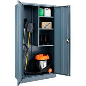 Paramount™ Janitorial Cabinet Easy Assembly 36x18x72 Gray