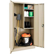 Paramount™ Janitorial Cabinet Easy Assembly 36x18x72 Tan