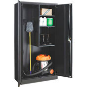 Paramount™ Janitorial Cabinet Easy Assembly 36x18x72 Black