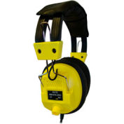Stereo/Mono Headphones with Plug Adaptor & Volume Control Yellow