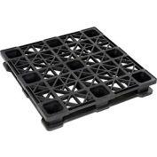 Rackable Plastic Pallet 45 X 45, 2600-5300 Lbs Cap - Pkg Qty 4