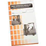 Replacement Checklist 70-1076 for IronGuard Electric Counterbalance Forklift Checklist Caddy