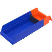 Akro-Mils Indicator® 36468 Two Tone Double Hopper Plastic Shelf Bin 6-5/8 x 17-7/8 x 4 - Pkg Qty 12