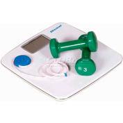 "Brecknell BS-180 Body Fat/Bathroom Scale 396lb x 0.2lb 12-1/2"" x 12-1/2"" Platform"