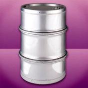 Skolnik IU55TMA Closed Head Stainless Steel Seamless 55 Gallon Drum